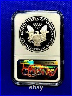 1986 S Silver Eagle Dollar Ngc Pf69 Ultra Cameo Signed John Mercanti Beautiful