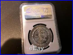 1987 Mexico Silver Libertad 1 Onza Doubled Die Reverse Ngc Ms 65 Beautiful Coin
