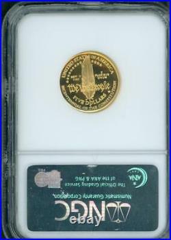 1987-w $5 Proof Gold Commemorative Constitution Ngc Pr70 Pf70 Beautiful