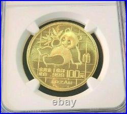 1989 China Gold 100 Yuan G100y Panda Ngc Ms 69 High Grade Bright Beautiful Coin