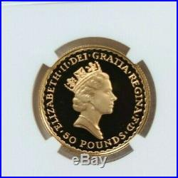 1989 Great Britain Gold 50 Pounds Britannia Ngc Pf 69 Ultra Cameo Scarce Beauty