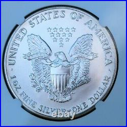 1992 American Silver Eagle $1 Dollar Bullion NGC MS70. Brown Label Beauty