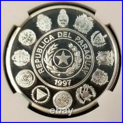 1997 Paraguay S1g Baile Del Cantaro Ngc Pf 69 Ultra Cameo Scarce Coin Beautiful