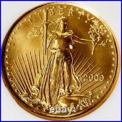 2000 American Gold Eagle $5 Ngc Ms 70 An Exquisite Work Of Art, Beautiful