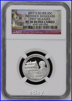 2010-2020 PR69/70 Silver S Proof NGC America The Beautiful Quarters (55 Coins)