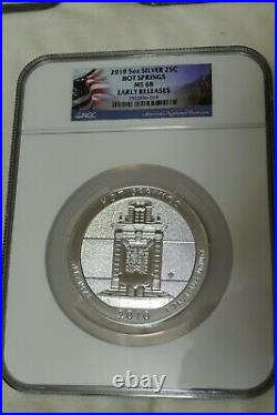 2010 5 Oz US Mint. 999 Silver America Beautiful Complete Set MS68 Early Release