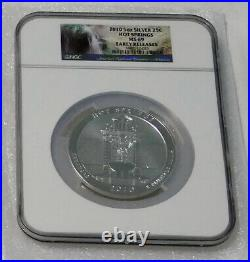 2010 5 Oz US Mint. 999 Silver America Beautiful Complete Set MS69 Early Release