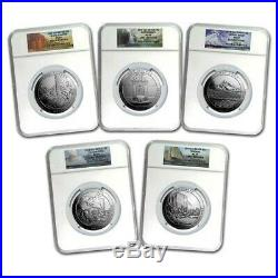 2010 5 oz America The Beautiful 5 Coin Set NGC MS69 Early Release