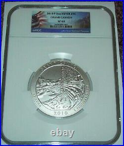 2010 ATB America the Beautiful Quarter Grand Canyon 5 oz Silver SP 69 ER NGC