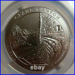 2010 GRAND CANYON 5 OZ Silver AMERICA THE BEAUTIFUL 25C NGC SP 69 EARLY RELEASES