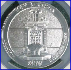 2010 NGC MS69 Early Release Hot Springs 5oz Silver America the Beautiful Quarter