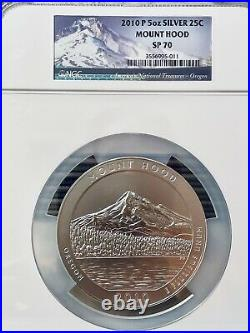 2010-P 5 Oz. Mount Hood SP 70 America the Beautiful Uncirculated Silver. 999