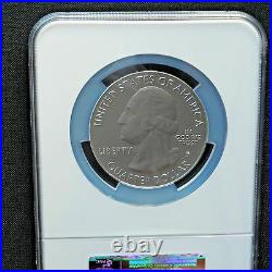 2010-P 5 oz Silver Coin, America The Beautiful, Hot Springs, NGC SP 69