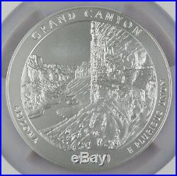 2010 P Grand Canyon America the Beautiful 5 oz Silver Coin SP70 NGC Burnished