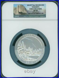 2010-P YOSEMITE ATB America Beautiful 5 OZ. SILVER NGC SP69 EARLY RELEASES E. R