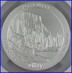2010 P Yosemite America the Beautiful 5 Oz Silver Coin SP70 NGC Early Release