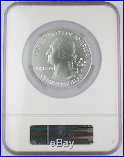 2010 P Yosemite America the Beautiful 5 Oz Silver Satin Finished Coin NGC SP70