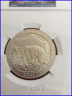 2011-P Glacier NGC SP69 America The Beautiful ATB 5 Oz Silver Coin