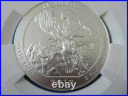 2012-P 25 C El Yunque NGC SP 70 A T B America the Beautiful Silver 5 oz