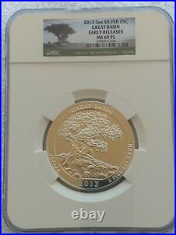 2013 5 oz America the Beautiful Great Basin NGC MS69 PL Early Release