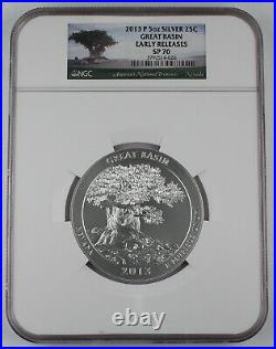 2013 P Great Basin America the Beautiful 5 Oz Silver Coin SP70 NGC Early Release