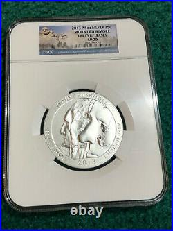 2013-P NGC SP70 ER Early Releases 5 oz America the Beautiful 5 Coin Set Complete
