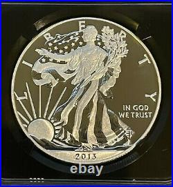 2013-W Enhanced Finish American Silver Eagle $1 NGC SP70 Early Releases Beauty