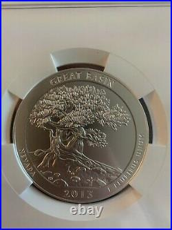 2013-p Great Basin America Beautiful Atb 5 Oz. Silver Ngc Sp69 Early Releases