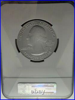 2014-P 5 oz SP70 NGC Burnished Silver ATB Arches Utah UT America Beautiful pcgs