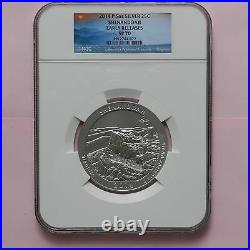 2014 P, 5 oz Silver, Shenandoah NGC SP70 ER America the Beautiful, UNC Coin