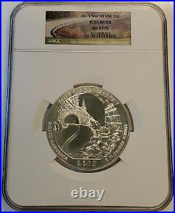 2015 5 oz ATB Blue Ridge Parkway Silver Coin NGC MS 69 PL America the Beautiful