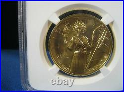2015 W $100 Gold High Relief Ngc Ms 70 Early Release Real Beauty