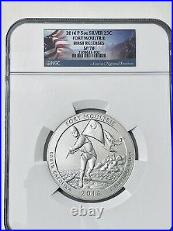 2016-P Fort Moultrie SP 70 America the Beautiful 5 Oz. Silver FIRST RELEASES