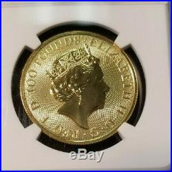 2018 Great Britain Gold 100 Pounds Black Bull Of Clarence Ngc Ms 69 Beautiful