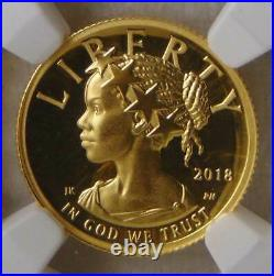 2018 W Liberty High Relief $10 Gold Coin, NGC PF 70 ULTRA CAMEO Beautiful