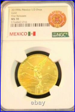 2019 MEXICO SILVER LIBERTAD 1//2 ONZA NGC MS 70 PERFECTION EARLY RELEASES !!!!