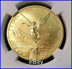 2019 Mexico Gold Libertad 1 Onza Ngc Ms 70 First Releases Beautiful Perfection