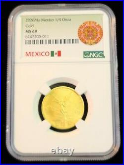 2020 Mexico 1/4 Onza Gold Libertad Ngc Ms 69 Only 700 Minted Beautiful Key Date