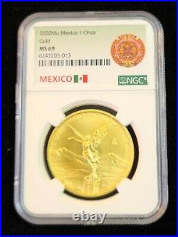 2020 Mexico 1 Onza Gold Libertad Ngc Ms 69 Scarce Low Mintage Beautiful Coin