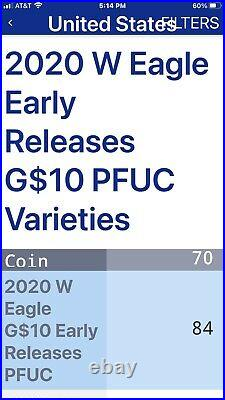 2020 W Proof Gold Eagle $10 Ngc Pf70 Ultra Cameobeautiful Coin