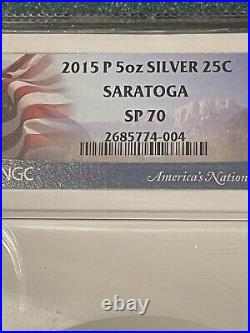 America the Beautiful 5 Oz. Silver Uncirculated Coin SP70