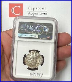 Attica Athens Owl 440-404 BC Silver Tetradrachm NGC CHAU 5x4 Beautiful Coin