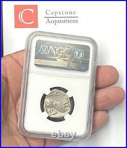 Attica Athens Owl 440-404 BC Silver Tetradrachm NGC CHAU Beautiful Greek Coin