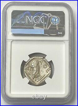 Attica Athens Owl 440-404 BC Silver Tetradrachm NGC CHAU Buy Now Beautiful Coin