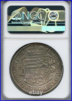 Austria Hall 1621 Archduke Leopold Taler Ngc-au-details Beautiful Coin