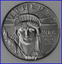 Beautiful 2005 $25 1/4 Ounce Platinum Eagle NGC MS70