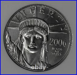 Beautiful 2006 $25 1/4 Ounce Platinum Eagle NGC MS70