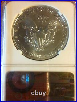 Beautiful 2011-s Silver Eagle NGC MS69 Early Release. 999 Silver 1Dollar