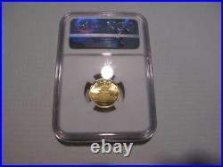 Graded Ms69 1984 China Gold Panda 1/10 Ounce Ngc 10 Yen Beautiful Coin