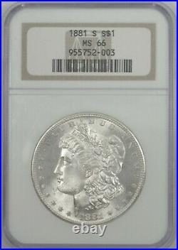 MS66 1881-S Morgan Silver Dollar Frosty Bright & Beautiful